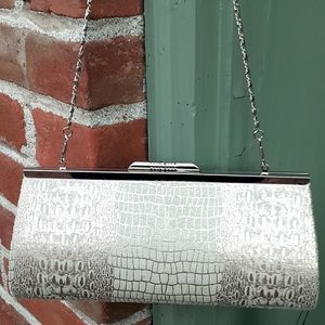 Silver clasp new clutch